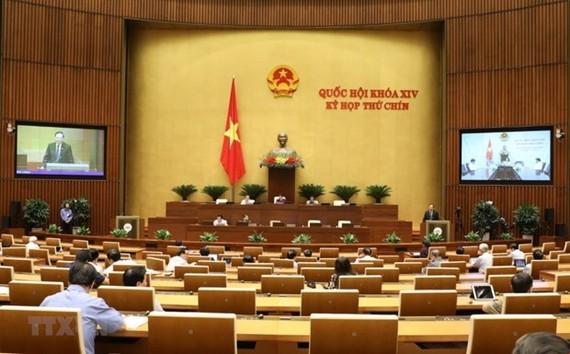 Quang cảnh Kỳ họp thứ chín, Quốc hội khóa XIV. (Ảnh: Văn Điệp/TTXVN)