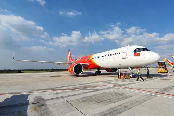 Tàu bay A321 của Airbus nằm trong giao dịch 10 tàu bay đã giúp Vietjet được vinh danh với giải thưởng Giao dịch của năm