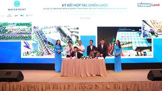 Nam Long ký kết chiến lược Keppel Land phát triển quỹ đất thương mại Waterpoint