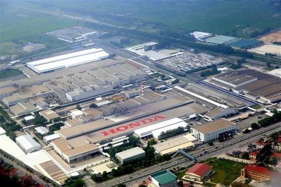 Nhà máy của Công ty Honda Việt Nam (vốn đầu tư của Nhật Bản) tại thành phố Phúc Yên (Vĩnh Phúc). (Ảnh: Danh Lam/TTXVN)