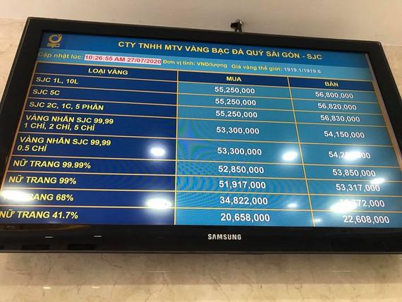 Vàng lên 56,8 triệu/lượng, người dân phản ứng ra sao trong cơn sốt giá vàng?