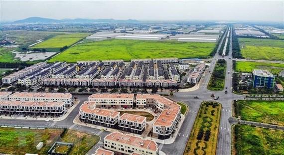 Khu nhà ở thương mại trong Khu công nghiệp và Đô thị VSIP Bắc Ninh đã hoàn thành, sẵn sàng đón các nhà đầu tư. (Ảnh: Danh Lam/TTXVN)