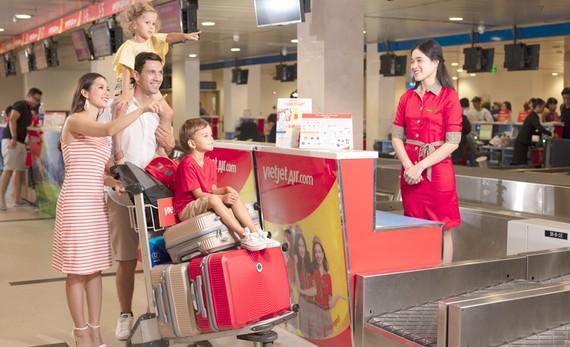 Vietjet tăng hành lý xách tay lên 15kg