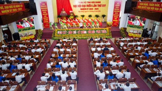 Đại hội đại biểu Đảng bộ tỉnh Hậu Giang: Tập trung 3 nhiệm vụ đột phá