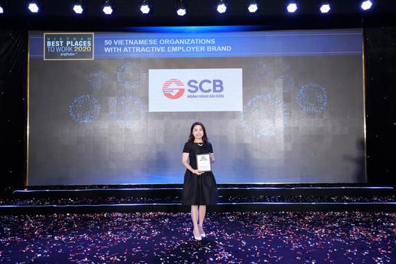 SCB được vinh danh ngân hàng Việt có môi trường làm việc tốt nhất