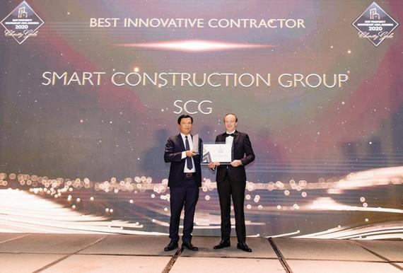 CTCP Xây dựng SCG (Smart Construction Group) nhận giải thưởng Best Innovative Contractor Southeast Asia 2020 - Nhà thầu xây dựng đột phá nhất Đông Nam Á 2020.