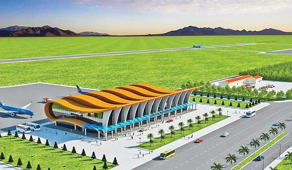 Perspective of Phan Thiet airport, about 200km from HCMC.