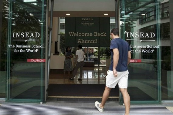 Insead, with campuses in France and Singapore, tops this year's ranking © Bloomberg