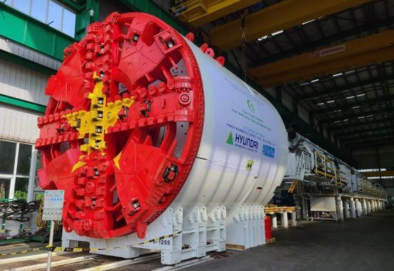 Chạy thử xong robot đào hầm đường sắt đô thị Nhổn-ga Hà Nội