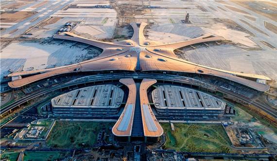 Sân bay quốc tế Đại Hưng, Bắc Kinh. Ảnh: China Daily