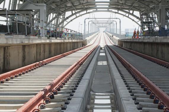 Gói thầu CP2 đoạn trên cao tuyến metro số 1 - Ảnh: ĐỨC PHÚ