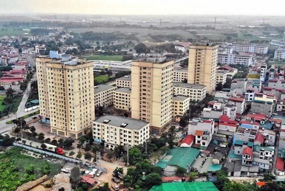 Khu nhà ở xã hội tại Xã Kim Chung, huyện Đông Anh, Hà Nội, dành cho công nhân khu công nghiệp Thăng Long. (Ảnh: Danh Lam/TTXVN)