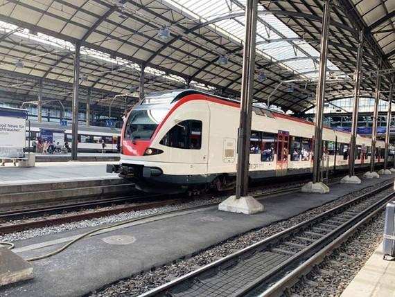 Hệ thống đường sắt cao tốc tại một nước châu Âu. Ảnh minh họa. (Ảnh: CTV/Vietnam+)