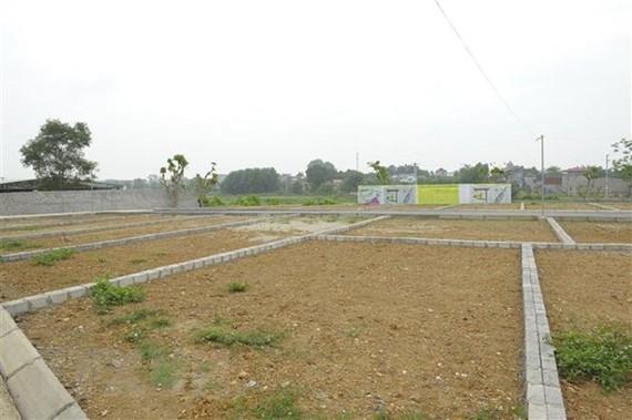 Một khu đất đã được phân lô để bán tại Thạch Thất. (Ảnh: Mạnh Khánh/TTXVN)