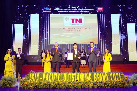 """TNI Holdings Vietnam được vinh danh """"Thương hiệu tiêu biểu Châu Á-Thái Bình Dương 2021"""""""