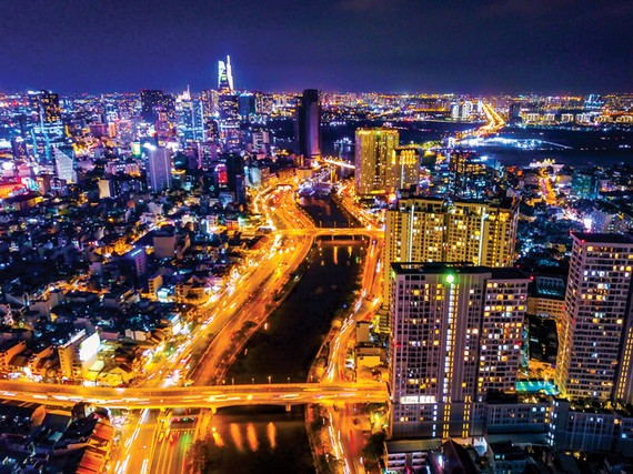 A corner of HCMC at night. Photo: Hoang Hung
