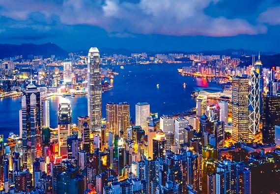 Một góc TTTC Hồng Kông.