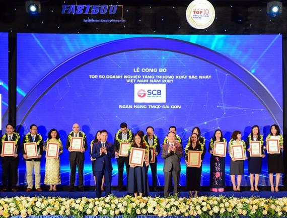 SCB top 50 doanh nghiệp tăng trưởng xuất sắc nhất Việt Nam