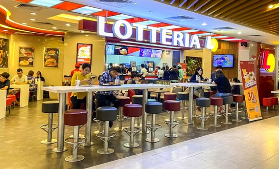 A Lotteria's outlet.