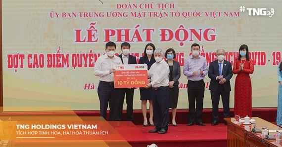 TNG Holdings Vietnam và MSB ủng hộ 10 tỷ đồng cho phòng, chống dịch Covid -19