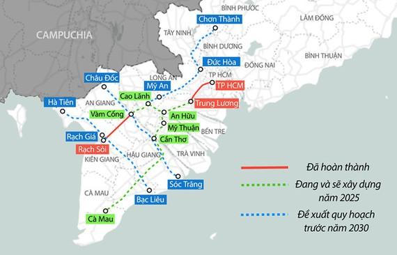 Định hướng phát triển hạ tầng giao thông cao tốc kết nối ĐBSCL tầm nhìn 2030