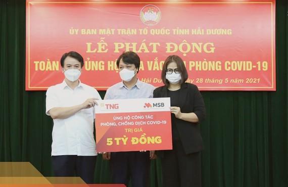 TNG Holdings Vietnam và MSB ủng hộ 5 tỷ đồng quỹ vaccine phòng Covid-19 tỉnh Hải Dương