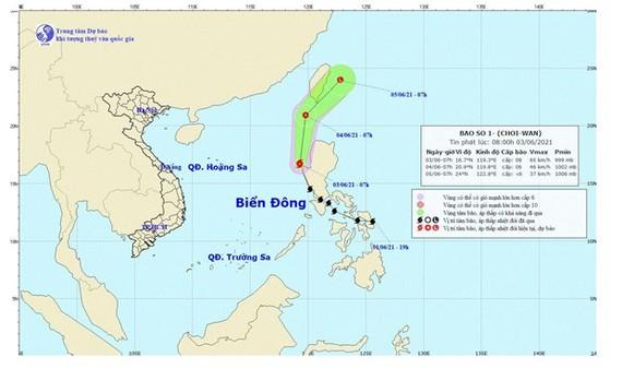 Hình ảnh vị trí, đường đi của bão Choi-Wan. (Nguồn: nchmf.gov.vn)