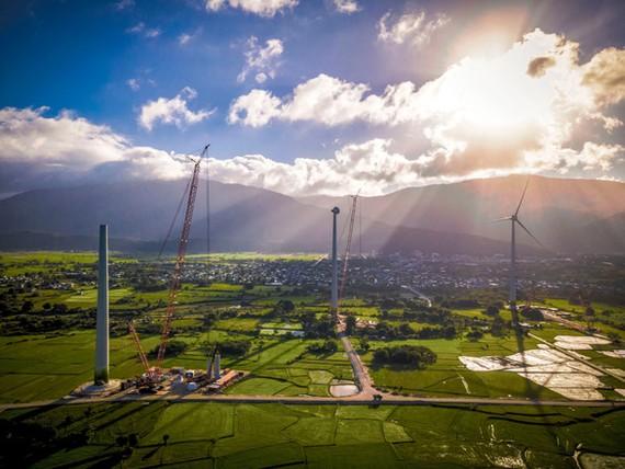 Trong số 12 dự án đã vận hành thương mại hiện nay, Nhà máy điện gió Trung Nam tại Ninh Thuận với công suất 151,95 MW là nhà máy điện gió lớn nhất VN tính đến nay - Ảnh: T.N.