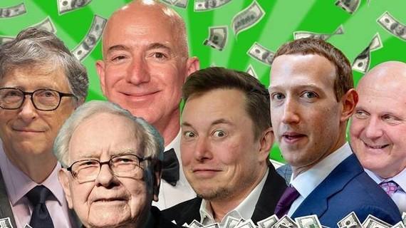 Một số người giàu nhất thế giới như Jeff Bezos, Elon Musk, Warren Buffett,... chỉ phải trả vài đồng thuế. Ảnh: Getty Images.