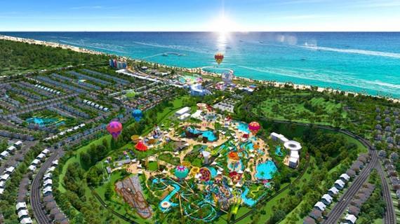 Phối cảnh Siêu thành phố Biển – Du lịch – Sức khỏe NovaWorld Phan Thiet 1.000 ha với vốn đầu tư lên đến 5 tỷ USD.