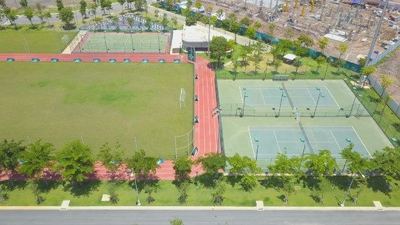 Cụm thể thao ngoài trời thuộc trung tâm thể thao đa năng Aqua Sport Complex được đưa vào sử dụng vào đầu năm 2020