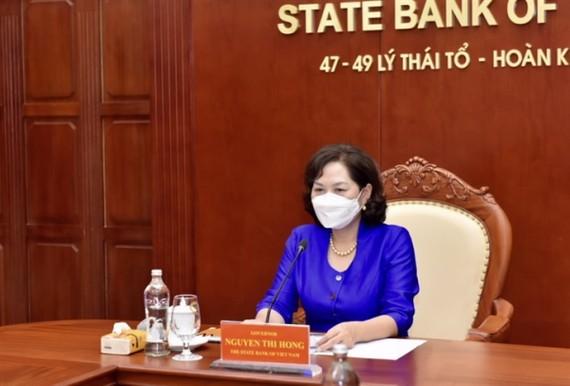 Thống đốc NHNN Nguyễn Thị Hồng tại buổi làm việc với Bộ trưởng Tài chính Mỹ Janet L. Yellen.