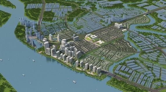Phối cảnh dự kiến minh họa tổng thể khu đô thị Izumi City 170ha tại Biên Hòa, Đồng Nai