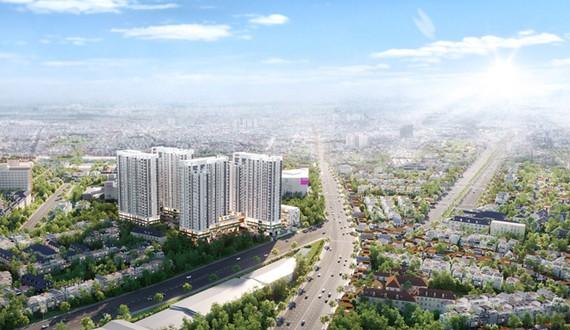 Phối cảnh dự án Moonlight Centre Point toạ lạc trên đường Tên Lửa (lộ giới 40m), quận Bình Tân vừa được giới thiệu ra thị trường.