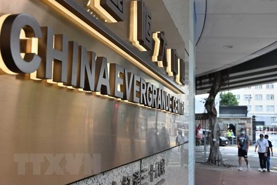 Tòa nhà của tập đoàn bất động sản Evergrande ở Hong Kong, Trung Quốc, ngày 15/9/2021. (Ảnh: AFP/TTXVN)