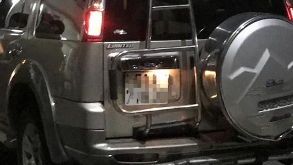 Chiếc xe ô tô các đối tượng sử dụng hiện đang bị tạm giữ