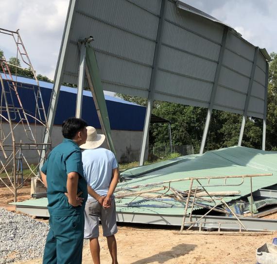 Hiện trường vụ sập công trình xây dựng