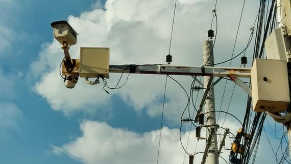 Camera an ninh được lắp đặt tại xã Phước Ninh, huyện Dương Minh Châu, tỉnh Tây Ninh. Ảnh: NGUYÊN VŨ