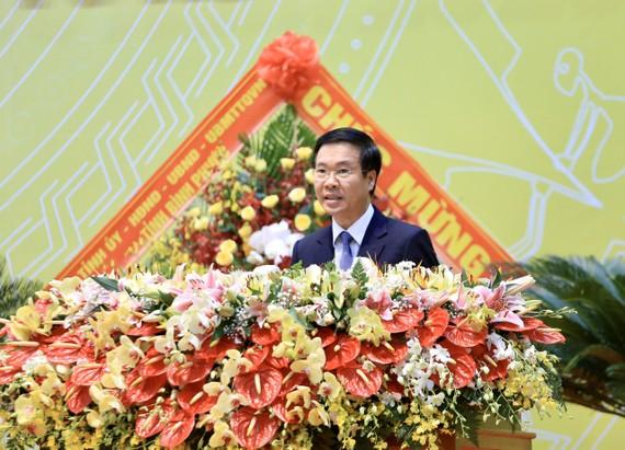 Đồng chí Võ Văn Thưởng phát biểu tại Đại hội