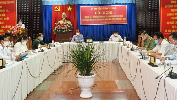 Hội đồng bầu cử tỉnh Tây Ninh công bố kết quả bầu cử