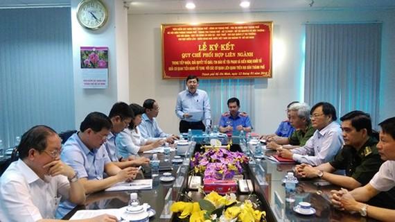 Đồng chí Trần Thế Lưu phát biểu tại lễ ký kết