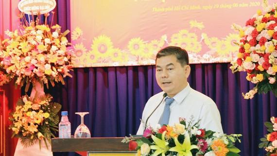 Đồng chí Võ Văn Yên, Phó Bí thư Thường trực Đảng ủy Khối cơ sở Bộ Công thương tại TPHCM phát biểu tại đại hội