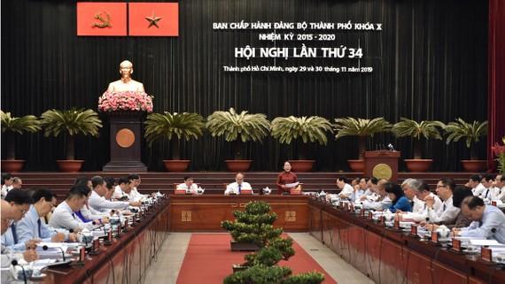 Hội nghị Ban Chấp hành Đảng bộ TPHCM lần thứ 34 khóa X. Ảnh: VIỆT DŨNG