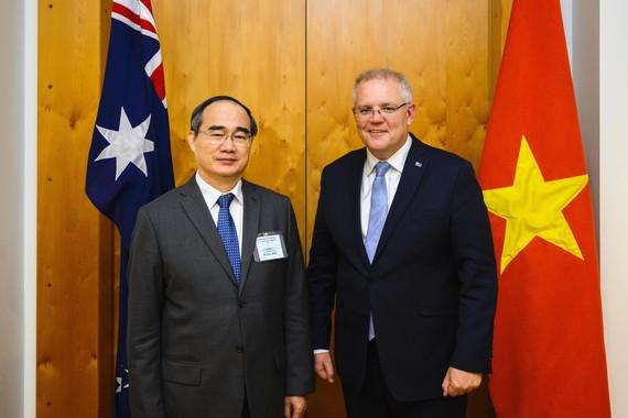 Đồng Nguyễn Thiện Nhân cùng Thủ tướng Australia Scott Morrison