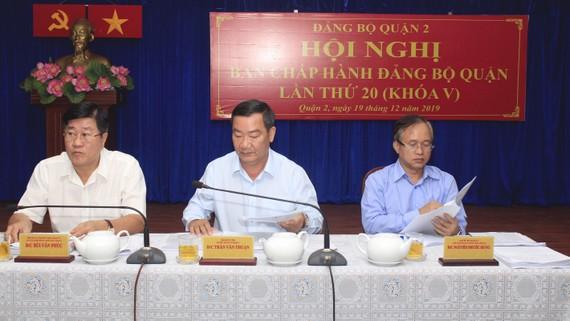 Lãnh đạo quận 2 chủ trì hội nghị Ban Chấp hành Đảng bộ quận 2.