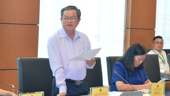 Phó Chủ tịch Quốc hội Đỗ Bá Tỵ phát biểu tại phiên giám sát