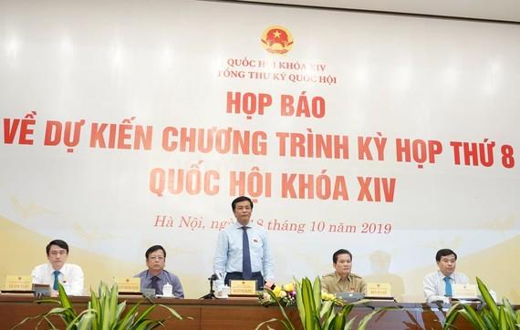 Tổng thư ký Quốc hội Nguyễn Hạnh Phúc chủ trì họp báo
