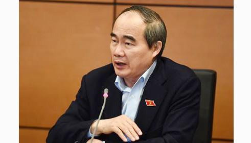 Bí thư Thành ủy TPHCM Nguyễn Thiện Nhân tại phiên họp tổ sáng 29-10-2019