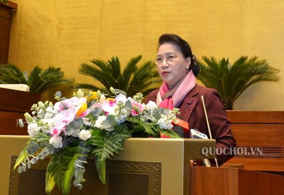 Chủ tịch Quốc hội Nguyễn Thị Kim Ngân phát biểu chỉ đạo Hội nghị