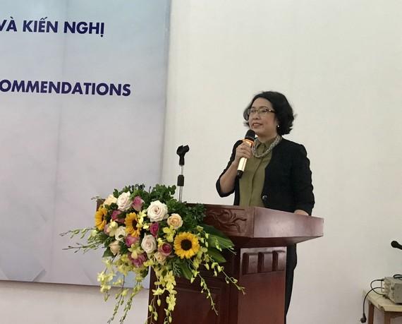 TS Trần Thị Hồng Minh phát biểu khai mạc hội thảo
